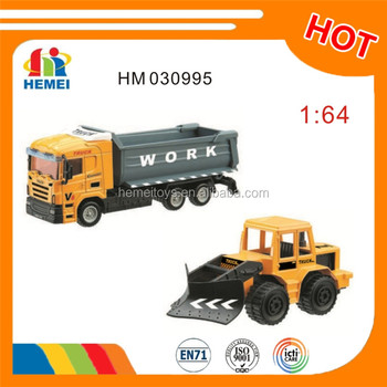 free wheel die cast construction toys truck for kids