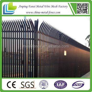 China Supplier Black/green/red/blue Concrete Palisade Fencing ...