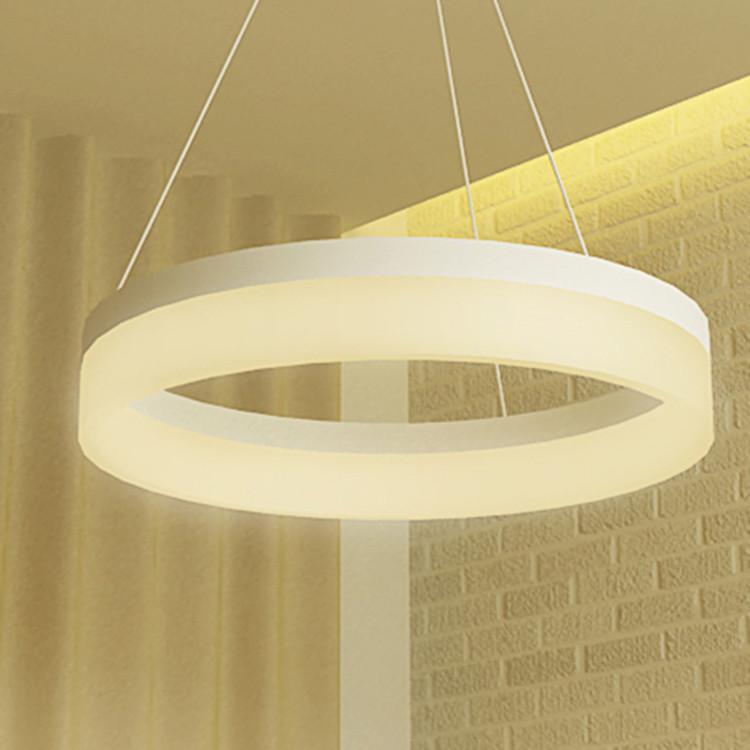 60 Cm Hogar Decoración Lámpara Anillo Círculo Moderno LED Colgante Para El  Dormitorio, Salón Y