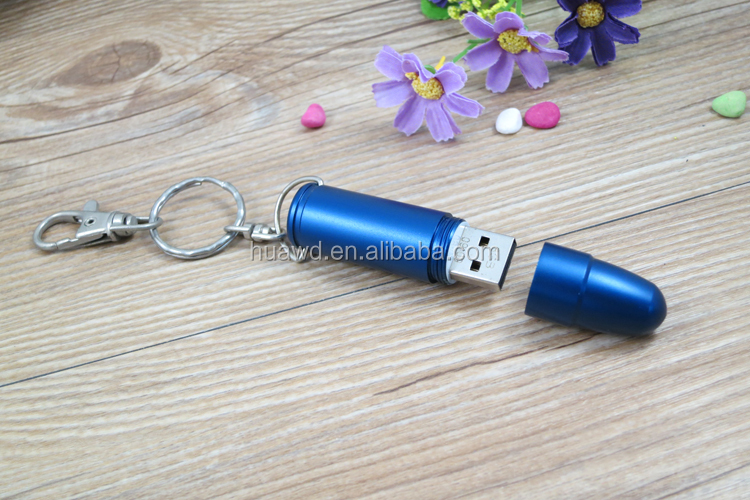 2016 Promo Gift USB 2.0 Gold Metal Bullet Flash Model Memory Storage Stick Pen Drive U Disk 8GB