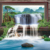 3d nature landscape waterfall forest wallpaper designs home decoration