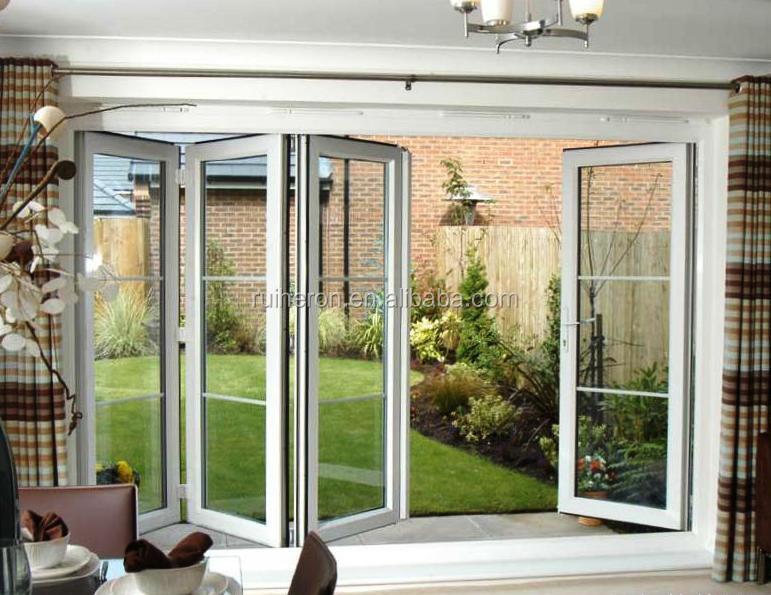 exportados a ee uu moderna puerta plegable de aluminio puertas plegables de vidrio exterior