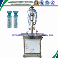 semiautomatic canned oxygen gas filling machine