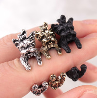 Free size Adjustable Cute Animal Pet Dog Chihuahua Rings for Women Birthday Gifts DWJZ339