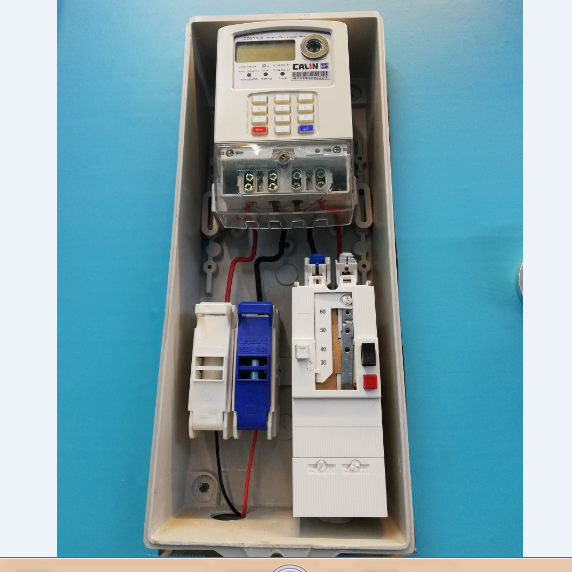 Single Phase STS Prepaid Electricity Meter BS footprint Extended terminal cover steady broad voltage range