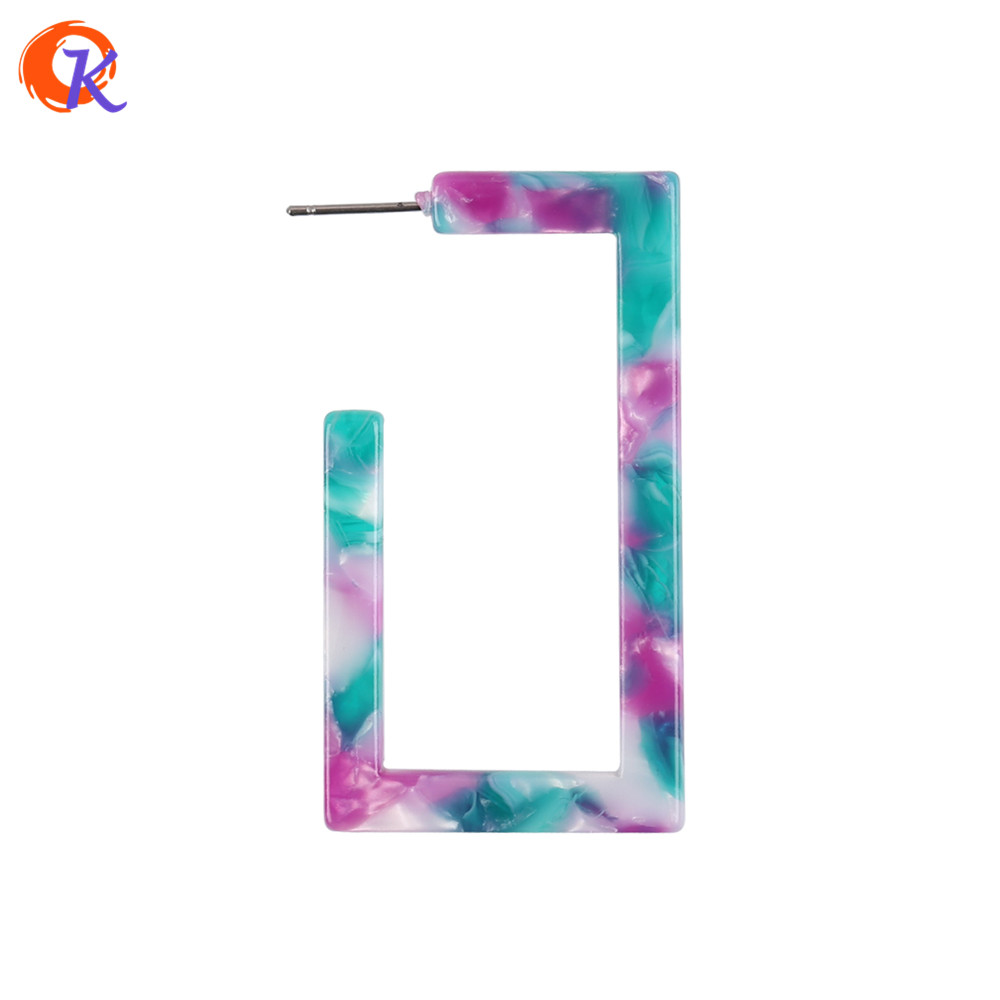 Simple Earrings Rectangular Choose Color Accessories Geometric Acetic Acid Fashion Big Drop For Ladies Earrings
