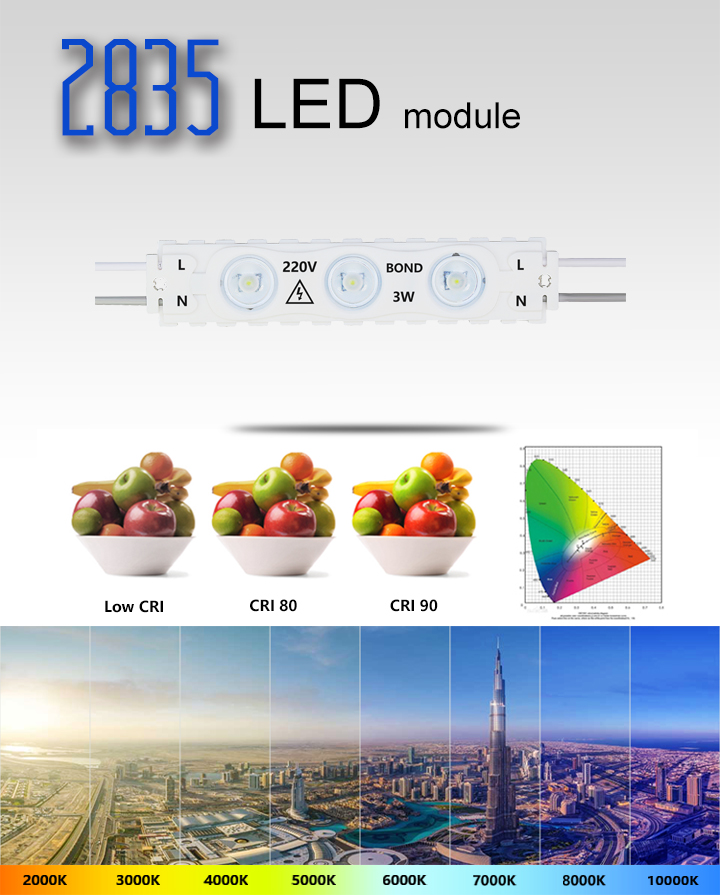 high voltage ac220v led lighting injection molding led module