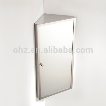 Wall Hanging Stainless Steel Small Corner Mirror Cabinet Bathroom 7041