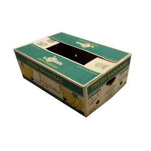 HIGH QUALITY AND INEXPENSIVE CORRUGATED BANANA PAPER PACKING CARTON BOX WITH CUSTOM PRINT