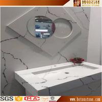 calacatta quartz vanity counter top , quartz stone looks like carrara marble