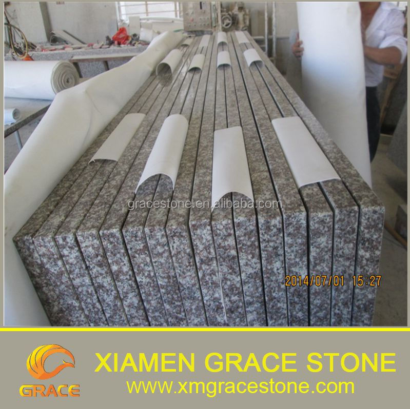 G664 Flat Edge Natural Granite Stone Kitchen Countertop Table Tops