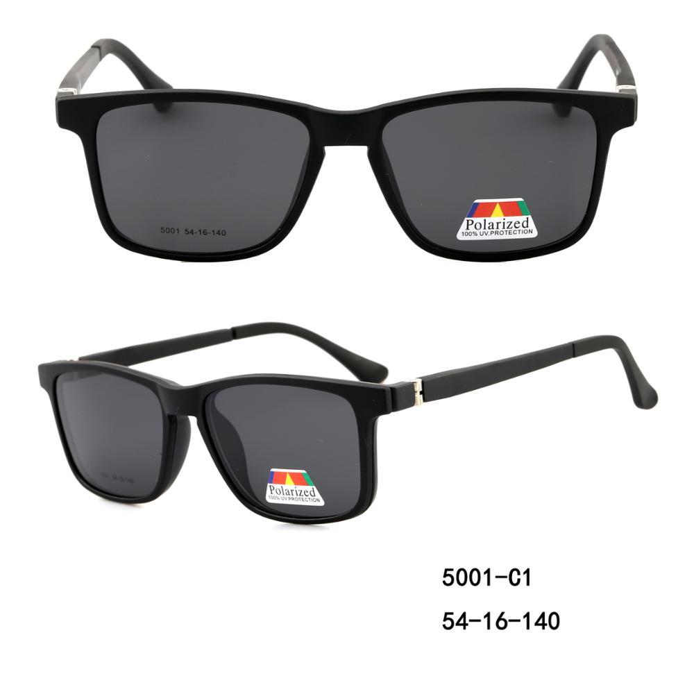 Magnetic clip on sunglasses unisex eyeglasses frame polarized lens фото
