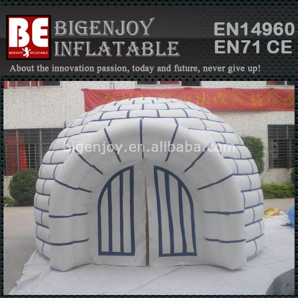Popular white small inflatable igloo dome