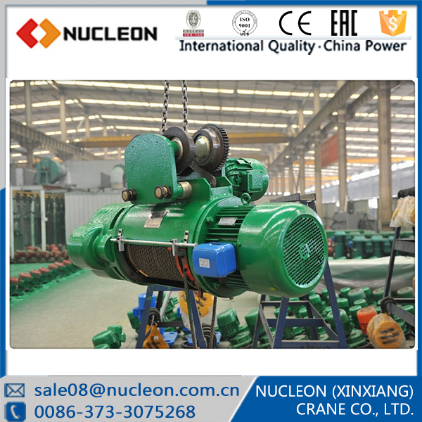Nucleon 1ton Electric Wire Rope Hoist for Single Girder Overhead Crane