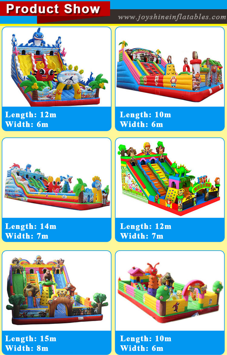 Inflatable Animal Bouncer Combo Kids Amusement Park Castle Playgruond Bounce House Obstacle Course Equipment