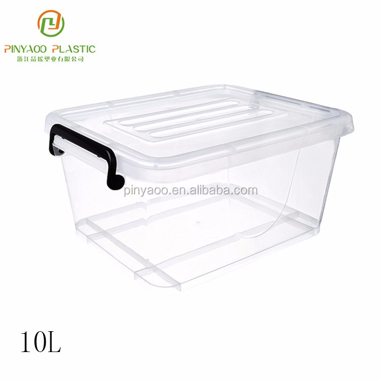 New product best design colorful 10L small storage box with lock