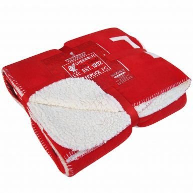 Liverpool FC Fleece Sherpa Blanket