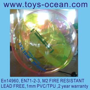 Germany zipper TPU inflatable water walking ball for floating