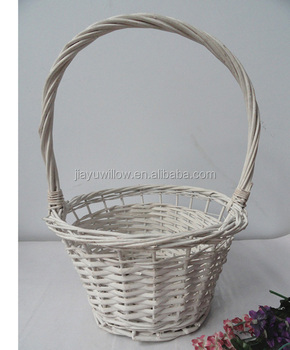 Flower girl baskets wicker flower basket wicker basket for flower flower girl baskets wicker flower basket wicker basket for flower mightylinksfo