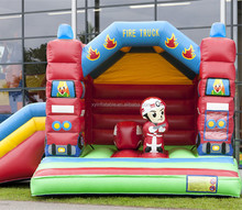 2015 new design inflatable jump slide combo fire truck for sale