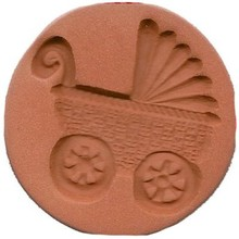 Limited version rare terracotta cookie stamp