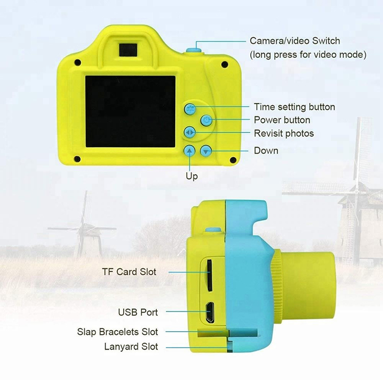 Hot HD 720P kids action camera sport mini dv redorder chidren sports camera