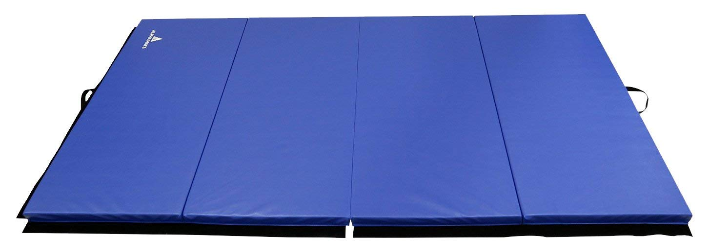 27b5fc29cbcf Get Quotations · Alpha Mats Folding Gymnastics and Exercise Mat, PU  Material & EPE Foam, Perfect for
