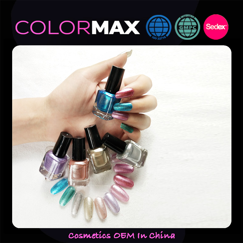 China Factory Directly Supply Women Pretty Metal Color Mirror Effect Nail Polish
