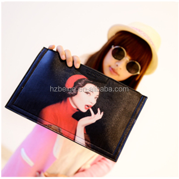 Hot!!! Trending hot products cheap wholesale promotional fashion envelope leather clutch bag in stock