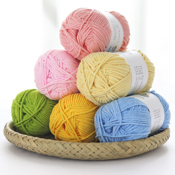 Wholesale hand knitting Textile Open End Super Soft Feeling 100% cotton milk acrylic bamboo yarn