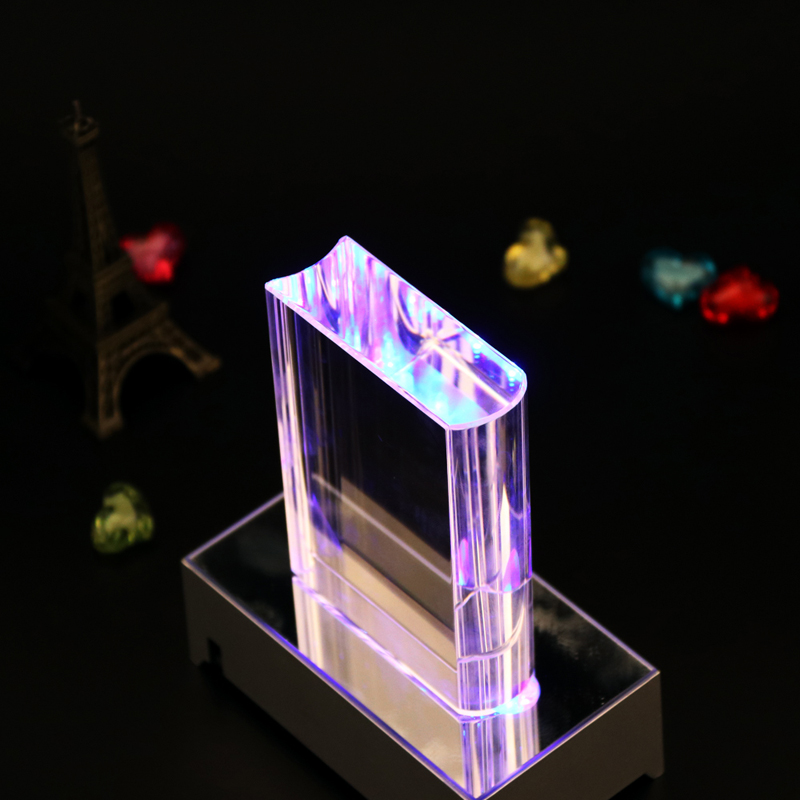wholesale K9 clear book shape crystal block cube