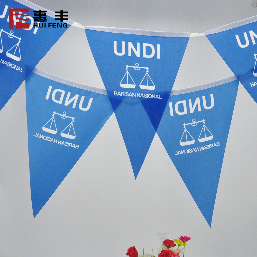 100 polyester fabric bunting flags line triangle malaysia election