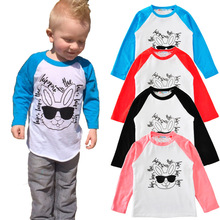 HT-TOP latest fashion baby t-shirts long sleeve kids cotton baby cartoon t-shirt 2017