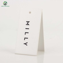 Custom cheap thick white cardboard paper hang tag for clothing