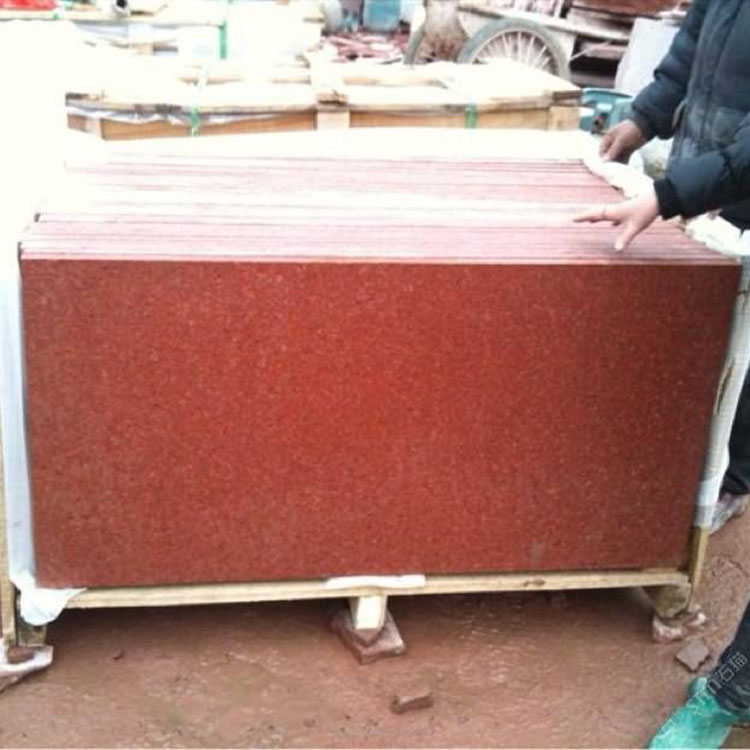 China Manufacturer Wholesale High Quality Natural Red Granite Tile