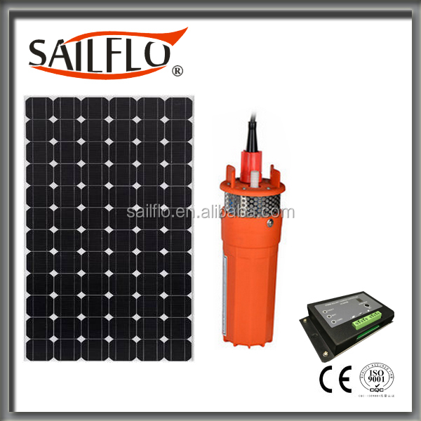 24 volt 230 feet Lift 6L/min 9300 submersible solar water pumps for agriculture