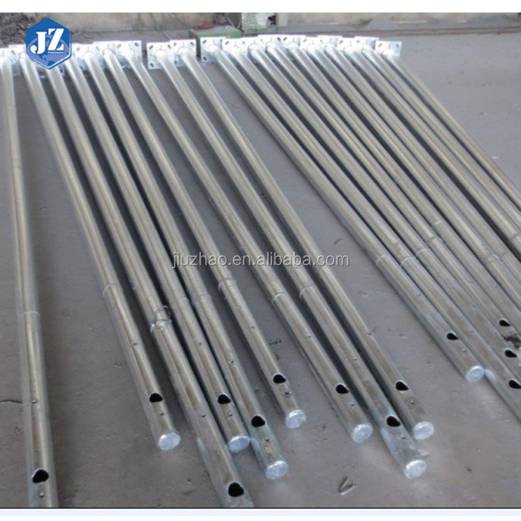 Customized Unique Design 11m Double Arm Round Road Lighting Poles