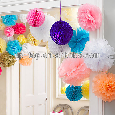 Colorful Honeycomb Garland
