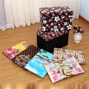 Wholesale Best Cheap Price Folding Storage Leather Indian Ottoman Pouf