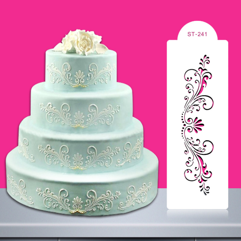 buy christmas wedding cake stencil decoration flower fondant mold kitchen. Black Bedroom Furniture Sets. Home Design Ideas