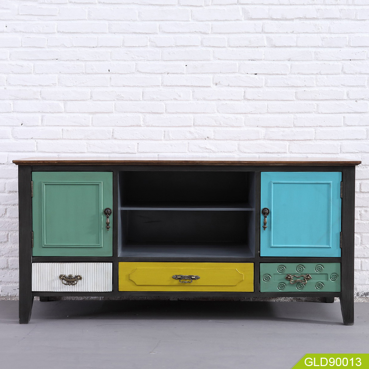 Living room wooden fruit table cabinet coffee table  TV cabinet storage table