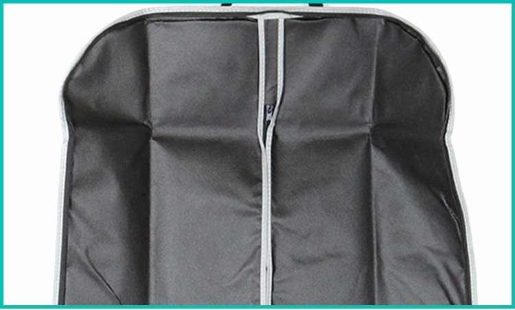 Foldable zip lock printed suit cover cloth nonwoven fabric garment bag