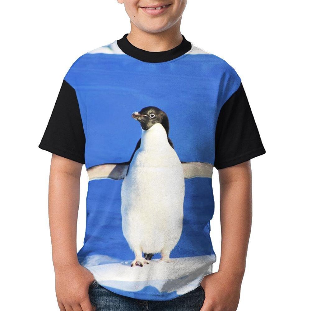 OldSch001 Teen Girls Sweatshirt Fashion Harmony Bear and Penguin Print Crop Tops