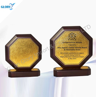 New Design Octagon Wooden Trophy with Base