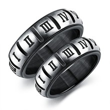 Marlary Black Stainless Steel 2 Pieces Gay Men Rings Gay Couple Ring Gay Couple Engagement Wedding Ring