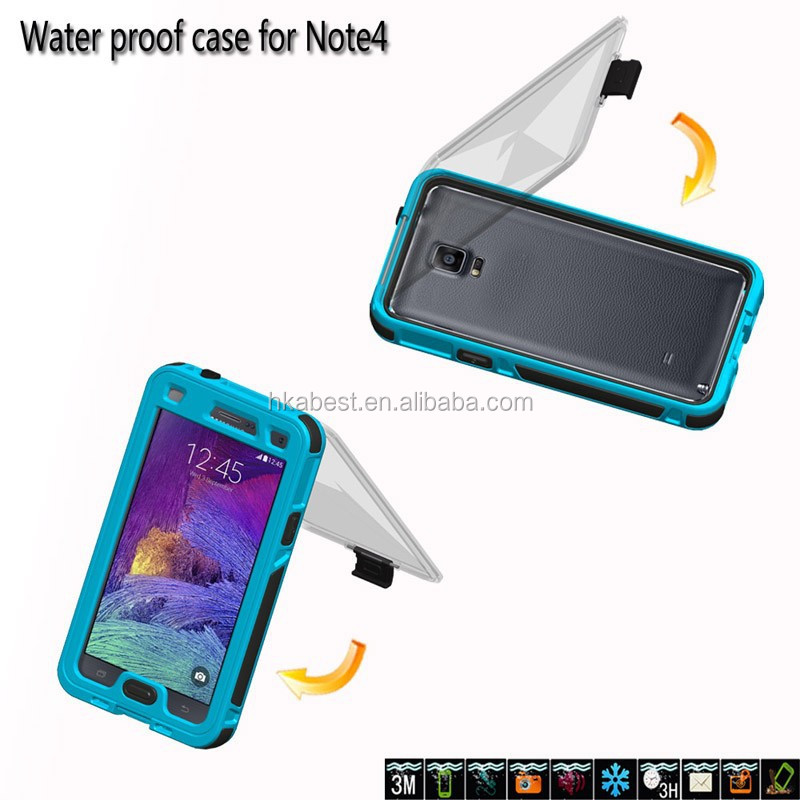 for Samsung Galaxy Note 4 Waterproof Case, Shockproof Dirtproof Snowproof Case Cover