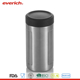 Everich 16oz/12oz double wall vacuum insulated ss beer can cooler with seal lid