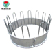 Farm sheep cattle horse and goat portable metal galvanized steel round bale pasture hay rack livestock feeder