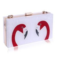 Women ladies party digital print clutches