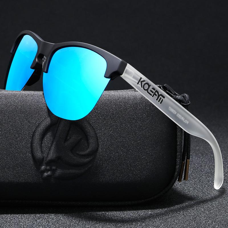 KDEAM custom logo women men sun glasses half-frame TR90 polarized UV400 frog sunglasses with OEM, Picture colors